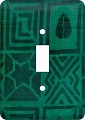 Mudcloth Green African American Switch Plate Cover