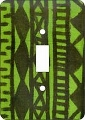 Mudcloth Lime African American Switch Plate Cover
