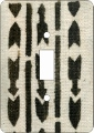 Mudcloth White African American Switch Plate Cover