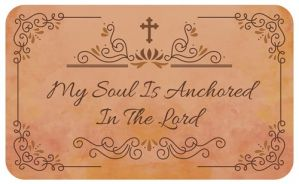 My Soul Is Anchored in the Lord Indoor Floor Mat