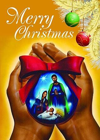 Nativity Ornament African American Christmas Card