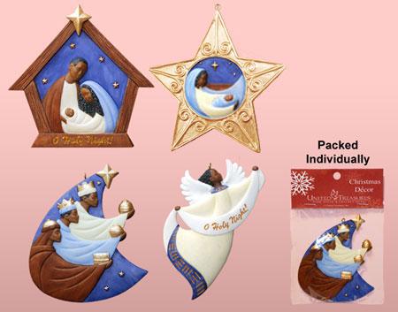 Niyae.com: African American Nativity Ornaments, African American Christmas Ornaments, aano