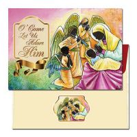 O Come Let Us Adore Him African American Christmas Cards