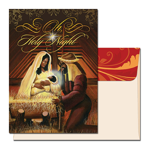 Niyae Com Oh Holy Night African American Christmas Card