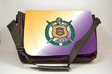 Omega Psi Phi Fraternity Laptop Shoulder Bag