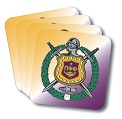 Omega Psi Phi Drink Coasters