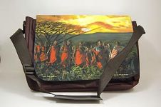 On the Move Afrocentric Laptop Bag