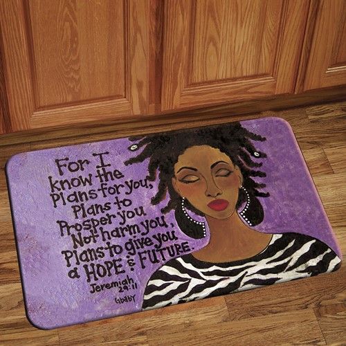 For I Know The Plans African American Indoor Floor Mat
