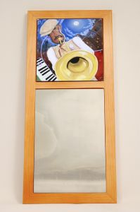 Pops Block African American Wall Mirror