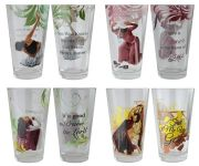African American Praise Dancers Drinking Glass Set