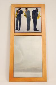 Sax Jazz African American Wall Mirror