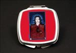 Still Mike Red African American Duel Mirror Compact