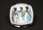 Strolln African American Duel Mirror Compact