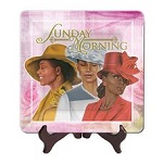 Sunday Morning 2013 Pink African American Glass Plate
