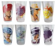 African American Ladies in Hat Sunday Morning Drinking Glass Set