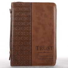 Brown LuxLeather Trust Bible Cover