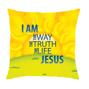 Way Truth Life Message Pillow