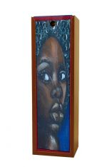 Ebony Girl African American Wine Box
